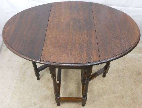 Oak Oval Dropleaf Gateleg Table
